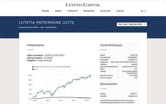 Mockup desktop Lutetia Capital