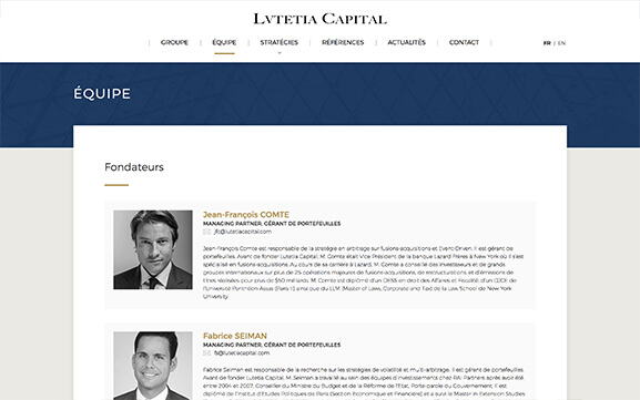 Mockup tablet Lutetia Capital